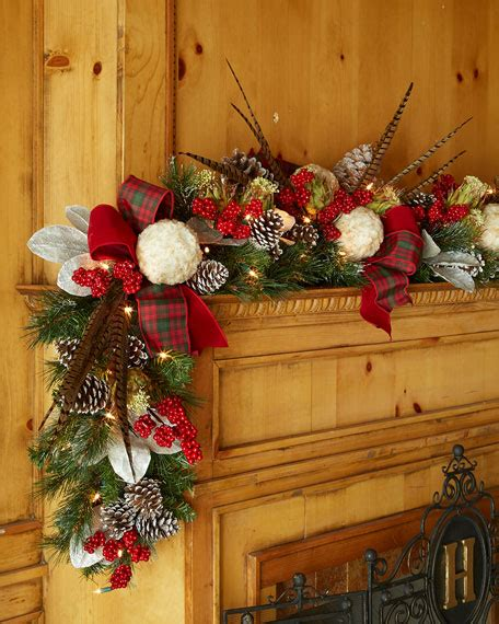 pre lit highland fling 6 christmas garland