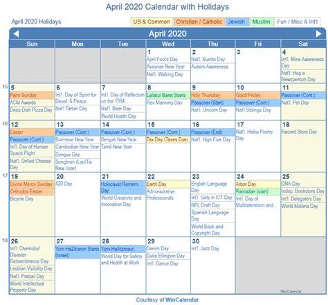 print friendly april   calendar  printing