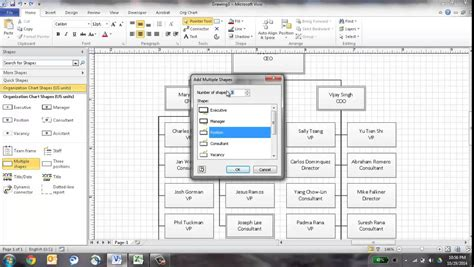 how to create org chart in visio create an org chart in visio using the wizard