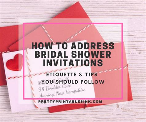 proper etiquette for wedding shower invitations how to address bridal shower invitations pretty
