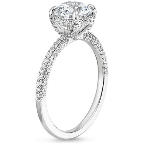 pave engagement rings sparkling pav 233 engagement rings brilliant earth