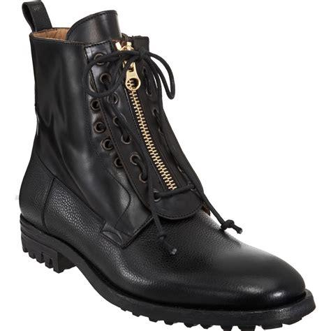 mcqueen boots mcqueen zip front boot in black for lyst