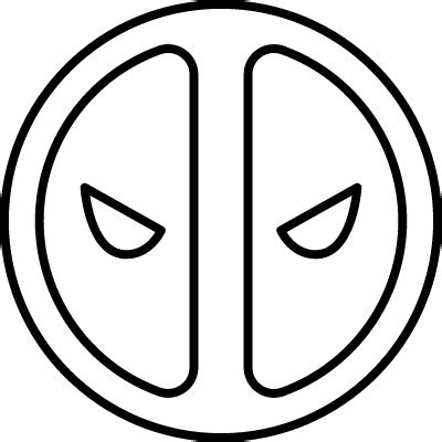 deadpool symbol coloring pages deadpool free vectors logos icons and photos downloads