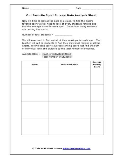 Data Analysis Worksheet by Worksheet Data Analysis Worksheets Caytailoc Free