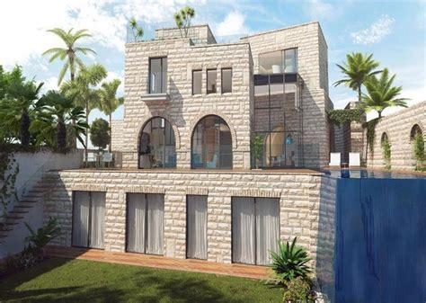 Floor Plans Of Mansions to be built jerusalem stone villa in israel homes of the