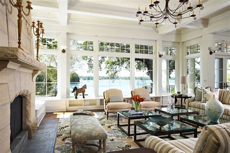 Lake House Decor | 15 living room window designs decorating ideas design