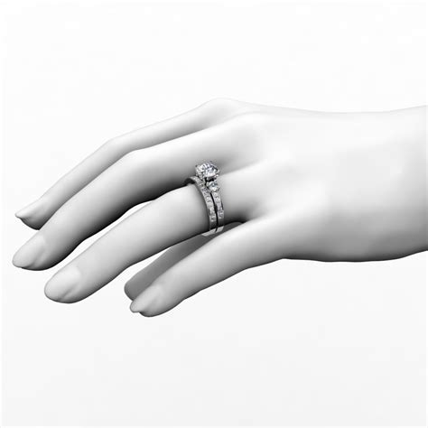 Engagement Bands For by 3 Engagement Ring Wedding Band Bridal Set
