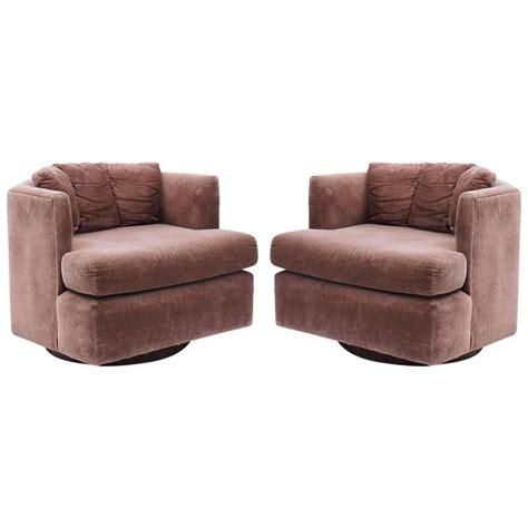 mid century modern swivel chair pair of mid century modern baughman faceted swivel tub