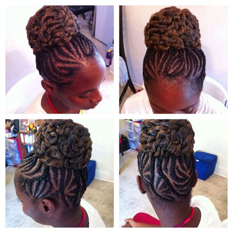 freestyle twists with bun 17 best images about kids and teens braids on pinterest