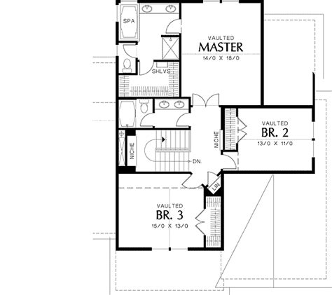 house plans with master suite on second floor great family craftsman home plan 69045am 2nd floor
