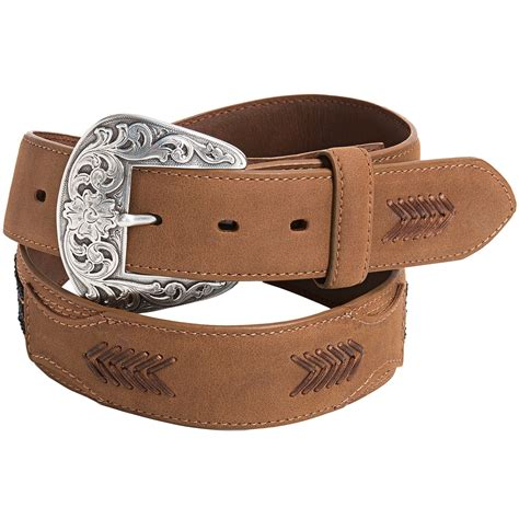 leather beaded belts roper beaded leather belt for in brown