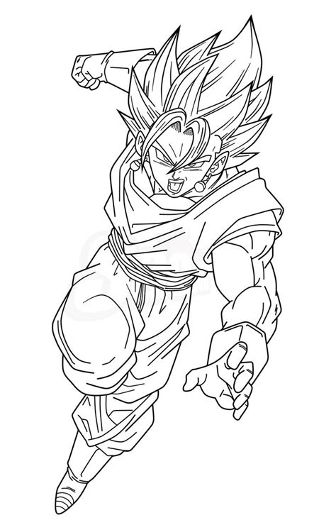 dragon ball vegito pages coloring pages
