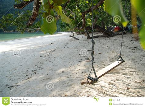 thai swing relax thai swing on thailand chill beach royalty free