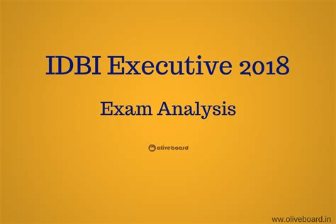 Mba In Analyics Of Arkansas by Idbi Executive 2018 Analysis Oliveboard