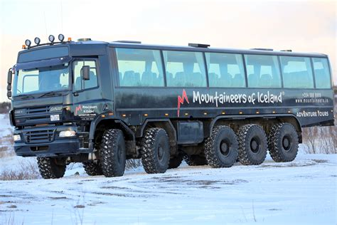 monster truck bus videos meet our fleet mountaineers of iceland