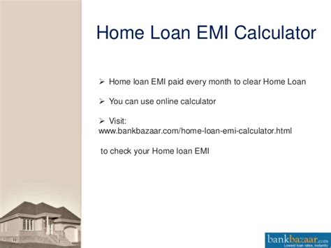 housing loan repayment calculator home loan emi calculator