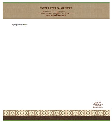 free letterhead templates doc sle letterhead template 42 free documents in pdf