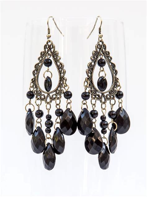 black chandelier earring black chandelier earrings sapphiredawnjewelry