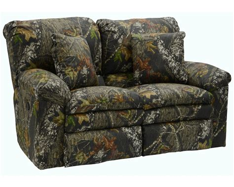 Camo Reclining Sofa Trapper Reclining Loveseat In Mossy Oak Or Realtree Camouflage Fabric By Catnapper 1302