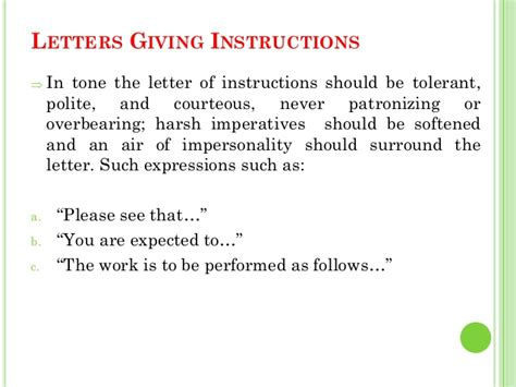Business Letter Giving Information business letters