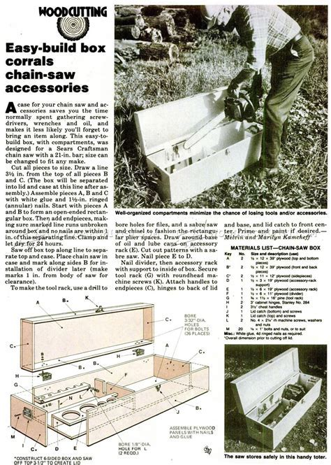 DIY Chainsaw Storage Box ? WoodArchivist