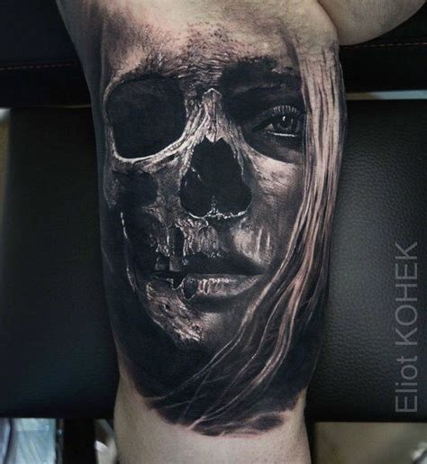 skeleton face tattoo 191 best images on skull tattoos skulls and