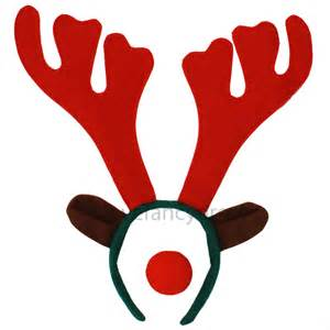reindeer antler headband and red nose rudolph christmas