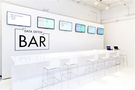 Data Detox Bar by A Tech Collective Sets Up A Sleek Boutique To Help