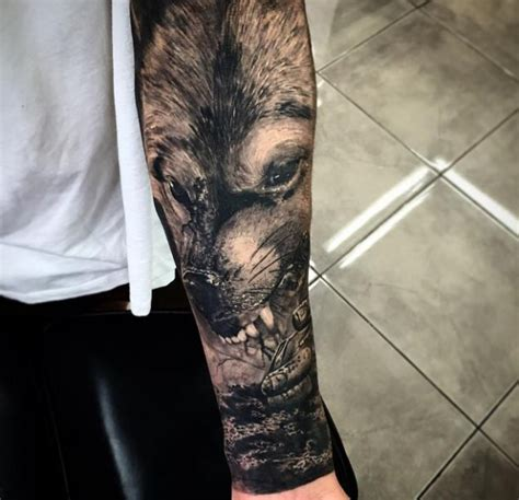 watercolor tattoo oberösterreich wolf motiv tattoovorlage