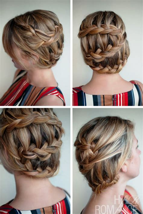 Unique Braided Hairstyles by Unique Braided Updo Hairstyle Behairstyles