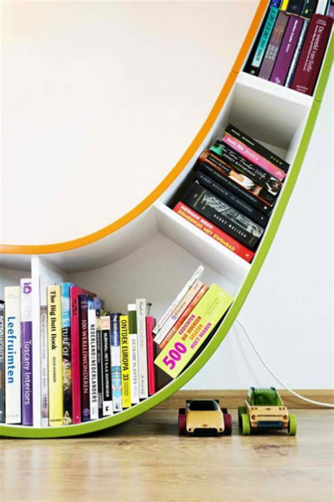 read and relax in the sculptural bookworm chair