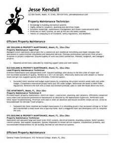 Lubrication Technician Sle Resume by Hotel Maintenance Resume Sle Jianbochen