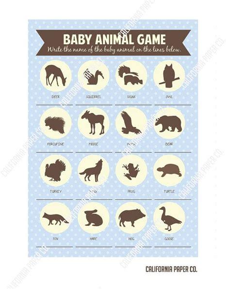 printable baby animal game diy printable baby deer baby animal game baby shower