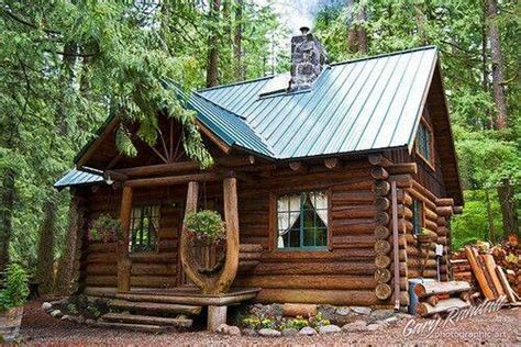 small rustic log cabin our home pinterest