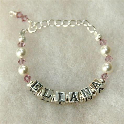 Handmade Name Bracelets - baby birthstone name bracelet custom by jenuine articles