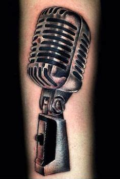 note  microphone tattoo sketch tattoos bands