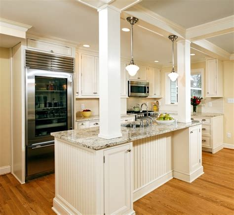 kitchen island columns alexandria timeless kitchen addition traditional