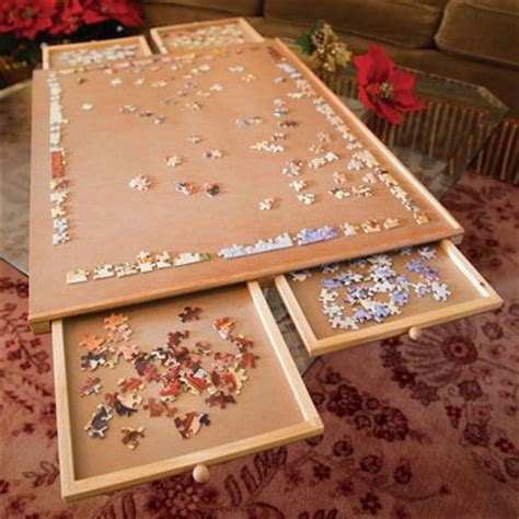 jigsaw puzzle table with drawers australia nice i want and shape on