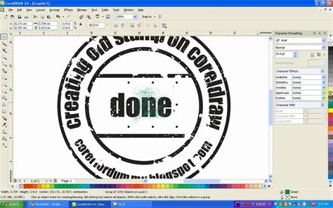 membuat watermark pdf corel draw tutorial creating old st youtube