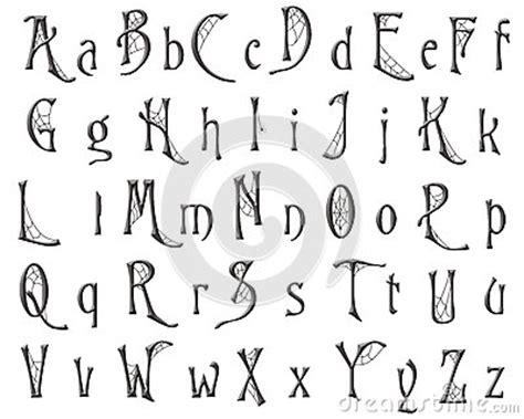 Buchstaben Sticker Libro by Scrapbooking Alphabet Cobweb Halloween Design Royalty Free