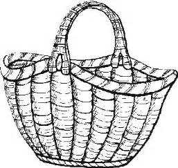 Basket To Colour Colouring Pages sketch template
