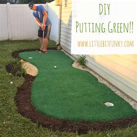 little bit funky how to make a backyard putting green