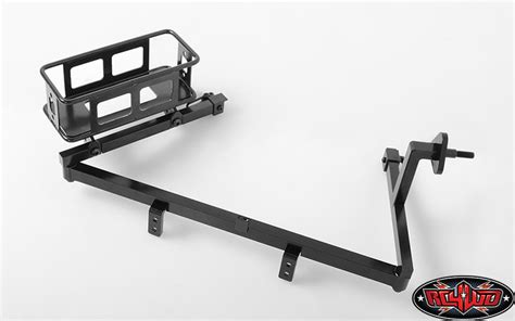 universal swing out tire carrier rc4wd tough armor swing away tire carrier w fuel holder