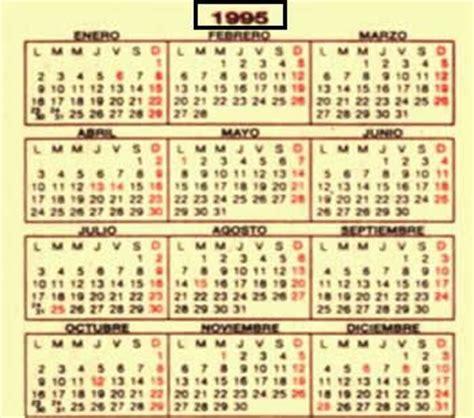 Calendario De 1995 Marzo 2009