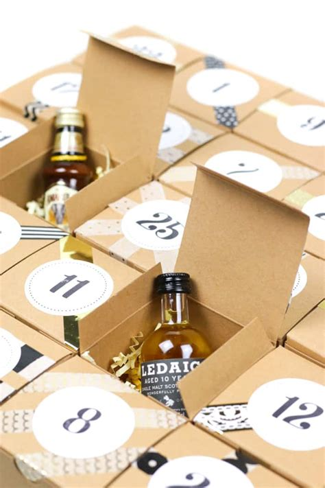 make your own booze advent calendar diy booze advent calendar 187 feast west