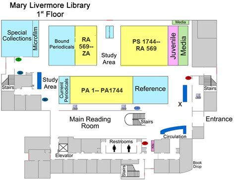 library floor plans library floor plan the of carolina at
