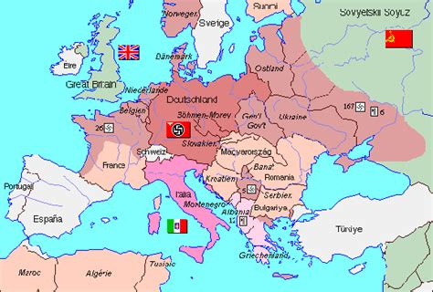 map of europe 1942 europe in 1942