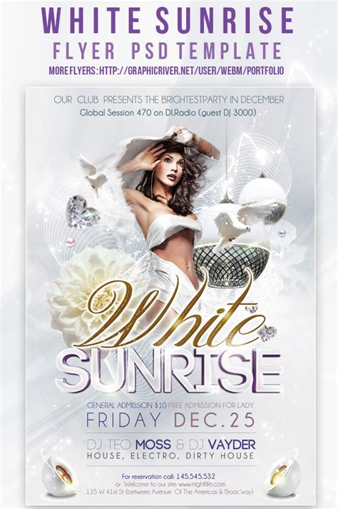 19 white party flyer psd images all white party flyer