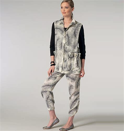 sandra jeans pattern review vogue patterns 1453 misses vest and pants sewing pattern