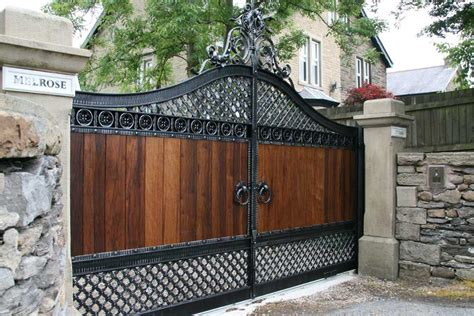 image  wooden  iron gate designs wrought iron